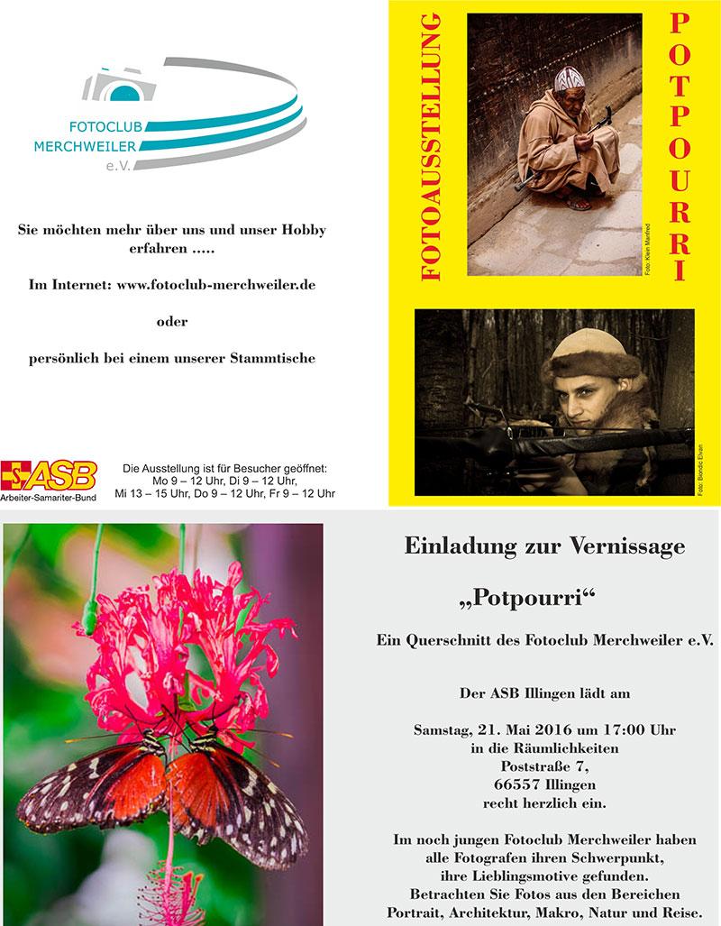 """Ausstellung """"Potpourri"""" beim ASB in Illingen"""