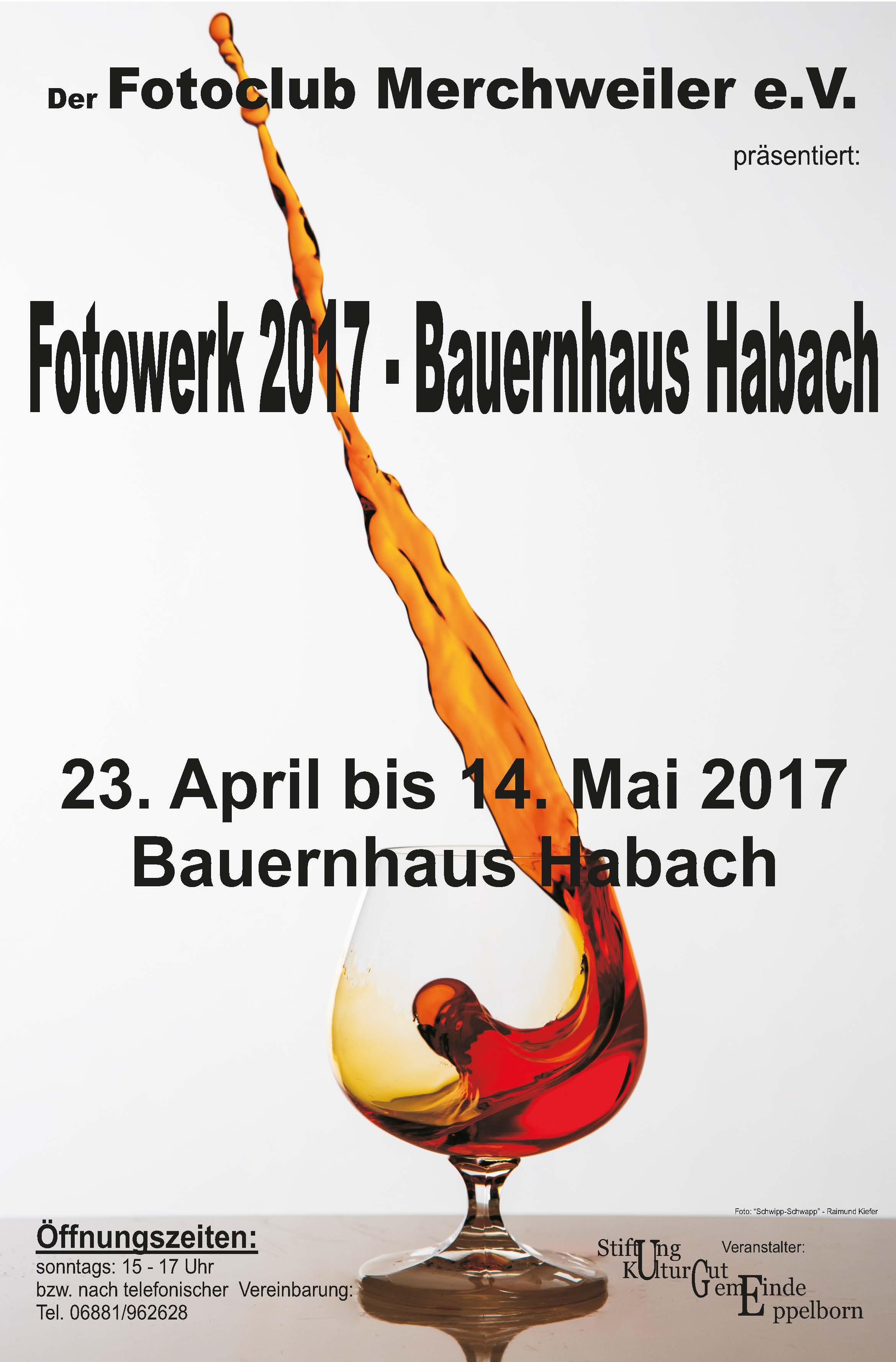 """Fotowerk 2017 - Ausstellung im """"Bauernhaus Habach"""""""
